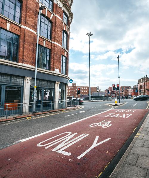 road and cycle lane